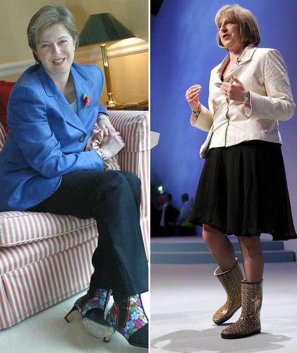 Les fameuses boots de Theresa May