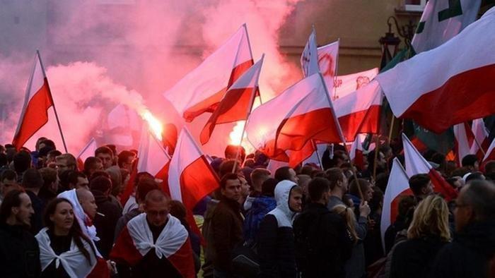 Manifestation anti-migrants en Pologne