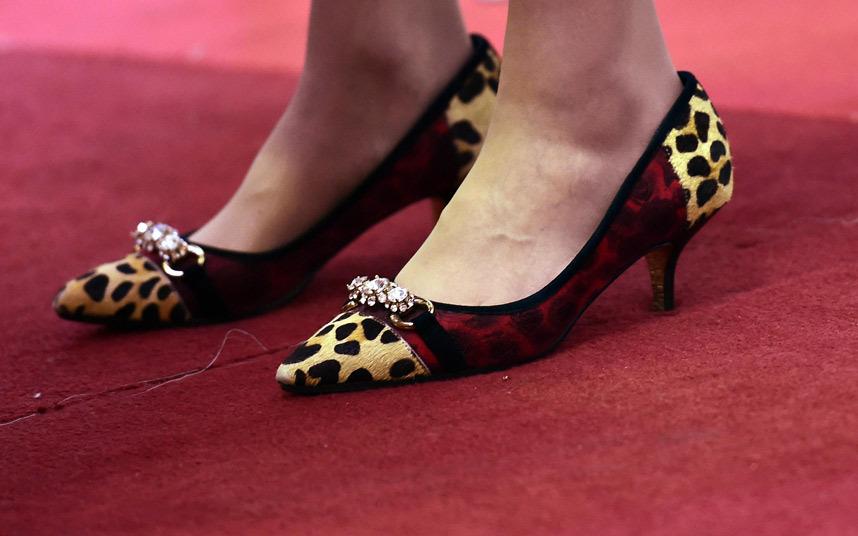 Une des paires de chaussures remarquées de Theresa May