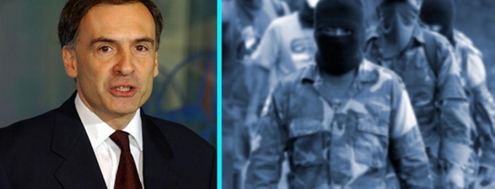 Jean Arnault, chef de la Mission de vérification des Nations Unies en Colombie