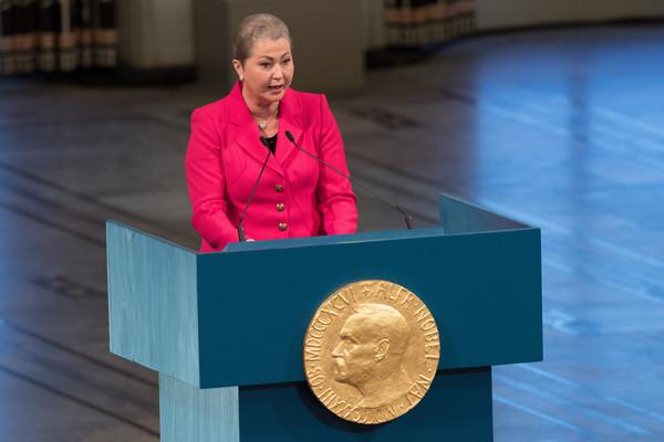 Kaci Kullmann Five, présidente du Comité du prix Nobel pour la paix