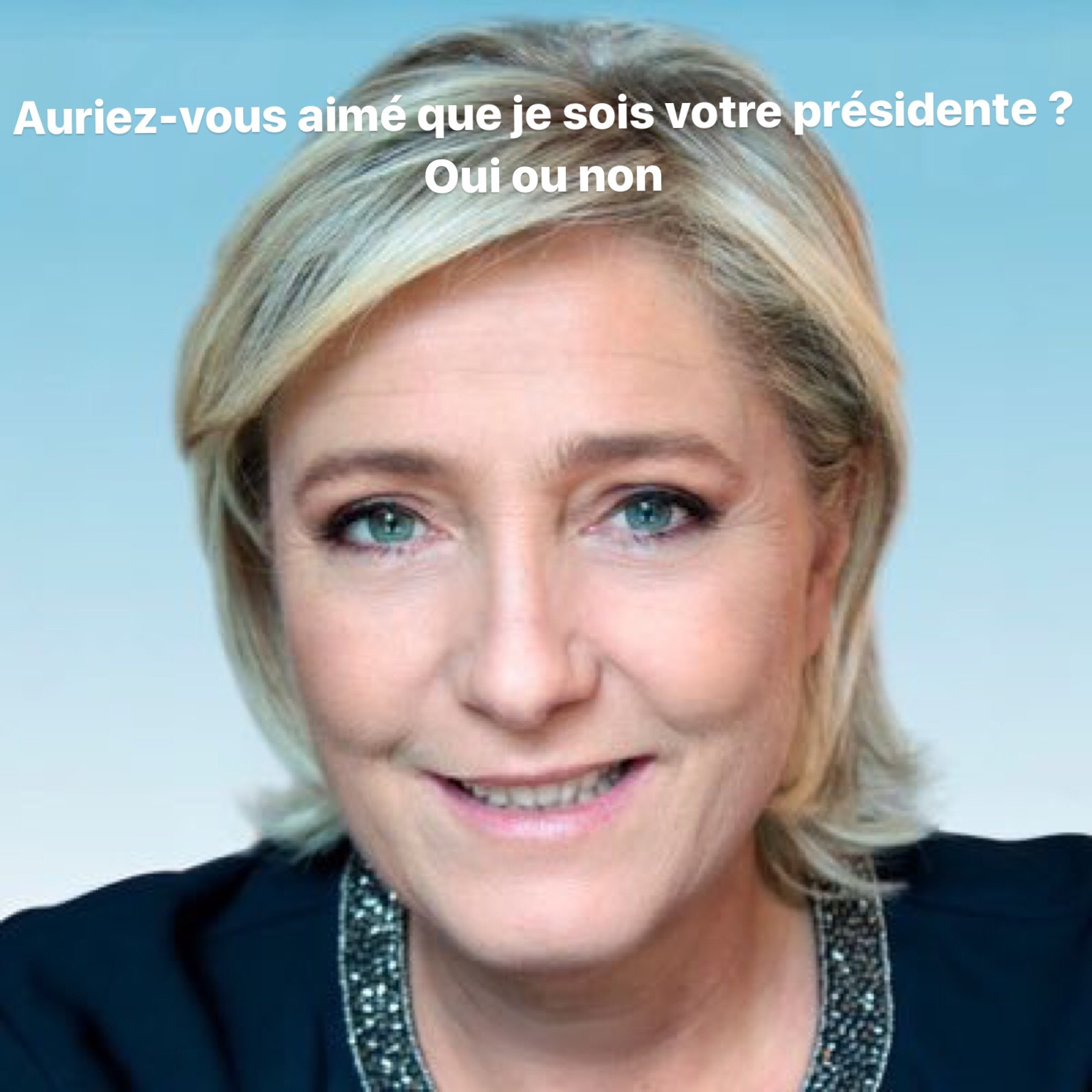 Photo Twitter de Marine Le Pen