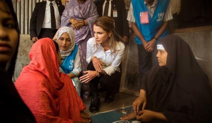 """""""le monde est incapable de voir les musulmans comme des victimesˮ Rania"""