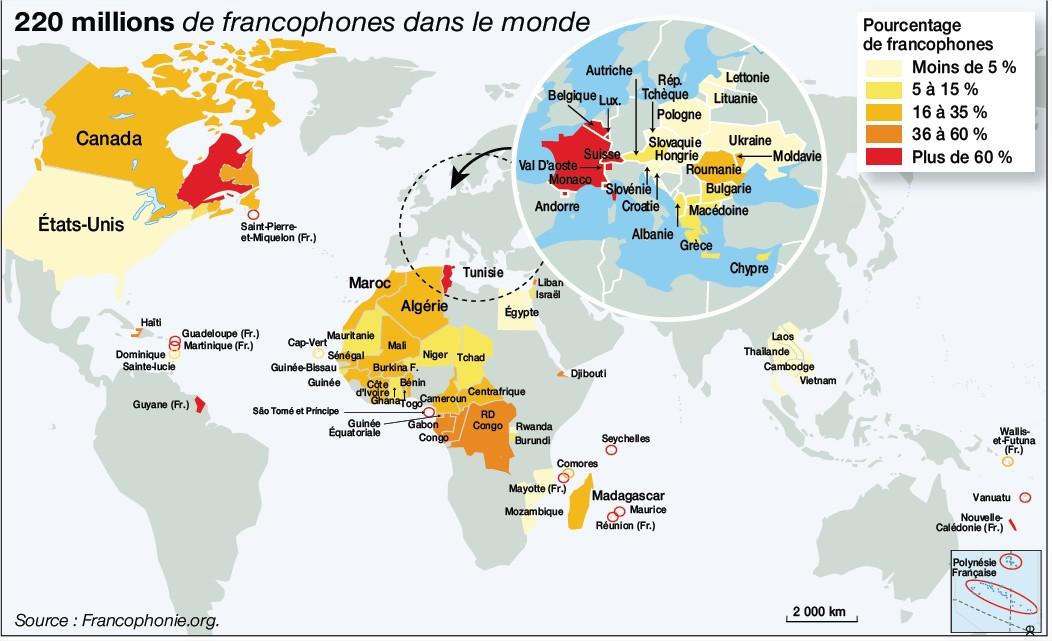 Thailande Carte Langues.Le Francais Troisieme Langue Parlee Dans Le Monde Ce N Est Pas