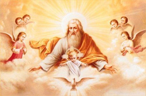 Fête de la Sainte Trinité – 16 juin 2019 - (Image et Musique)- Tableau Poétique des Fêtes Chrétienne – Vicomte Walsh 19  Dieu-sainte-trinitc3a9-500x329