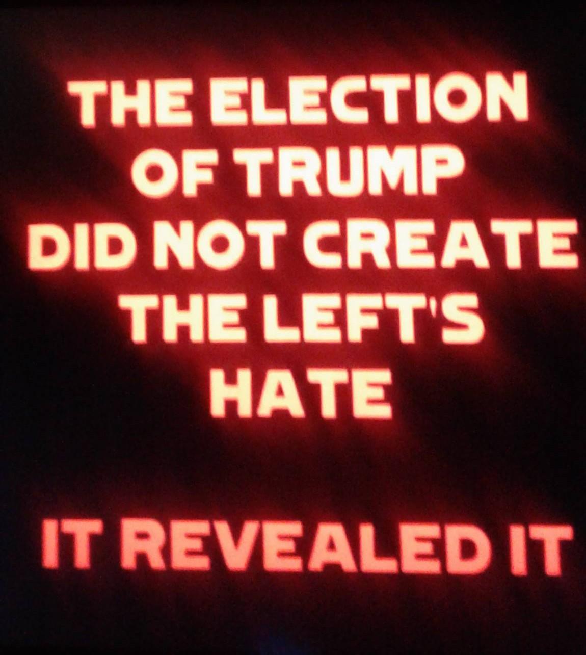 L'élection de Trump n'a pas créée la haine de la gauche Elle l'a révélée