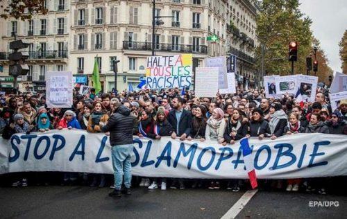 Manifestation contre l' « islamophobie » à Paris le 10 novembre 2019