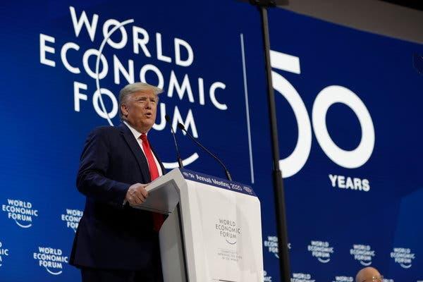President Trump in Davos today.