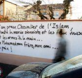 Un tag à la mémoire de Mohamed Merah fait scandale à Tarbes (29 mars 2012) - © AFP Photo Laurent DARD